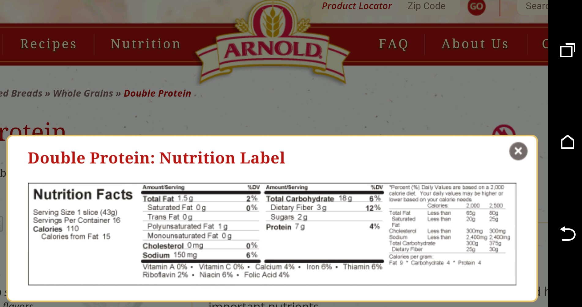 image. Here's my recipe for French toast: Ingredients: *2 slices Arnold Double Protein Bread,